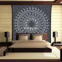 Elephant Floral Bohemian Mandala Tapestry Wall Hanging