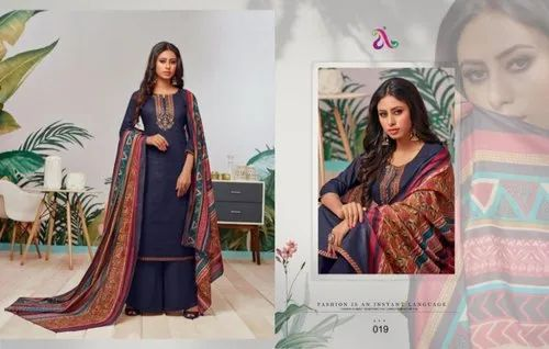 c239b98e77 Unstitched Angroop Plus Hollis Pure Cotton Print With Embroidery Salwar  Kameez