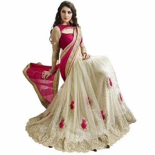 0e261a22fc0 Party Wear Net Designer Saree