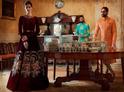 Maroon Designer Velvet & Embroidery Long Anarkali Gown