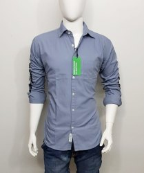 Cotton Plain Mens Casual Shirts