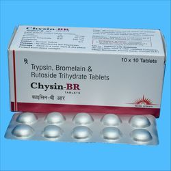 Trypsin 48 mg Bromelain 90 mg Rutoside Trihydrate 100 mg Tablet