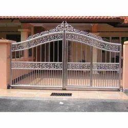Khodiyar Fabricators Designer Stainless Steel Swing Gate, For Security Purpose