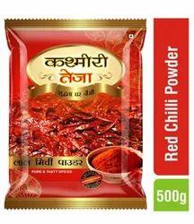 Kashmiri Teja Red Chilli Powder, Packaging Type: Bag, 500g