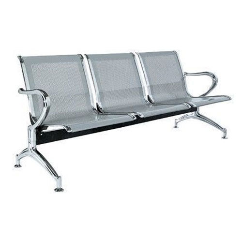 3 Seater Stainless Steel Waiting Bench Dimension 160 X 52 X 72 Cm