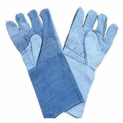 Full Fingered Jeans Fabric Gloves