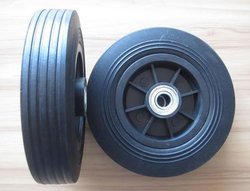 Plastic AR AR RUBBER Rubber Trolley Wheel With PP Hub