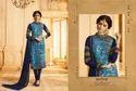 Brasso & Georgette Blue Salwar Suit