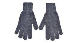 Plain Grey Winter Gloves