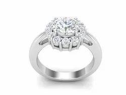 925 Sterling Silver Oval Cut Bridal Wedding Ring