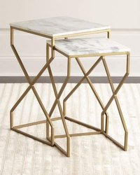 Mirror Finish Brass Table
