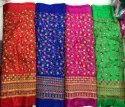 Embroidered Banarashi Silk Daman Embroidery, Gsm: 100-150 Gsm, For Clothing