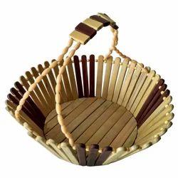 Multicolor Wooden Fruit Basket