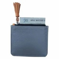Female Brown Leather Coin Pocket With Card Holder