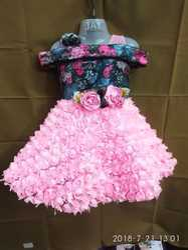 Party Wear net & Jacquard, baby frock, Size: 22