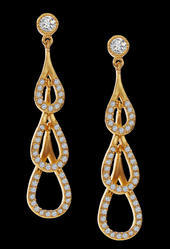 Fashion 24K Gold Plated Drop Earrings