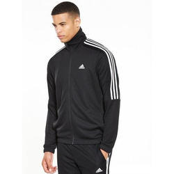 Black Cotton Sports Running Promotional Tracksuit, Size: Large