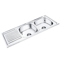 Double Bowl Sink With Drainboard