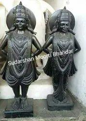 Black Marble Vitthal Rukmani Statue