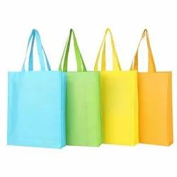Plain Colored Loop Handle Non Woven Bag, For Shopping
