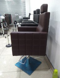 HK Fiber wooden+leather+metal Salon Chair