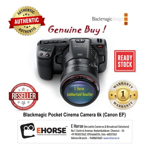 Blackmagicdesign Blackmagic Pocket Cinema Camera 6k With Bill And Warranty Rs 180000 Unit Id 21319198188