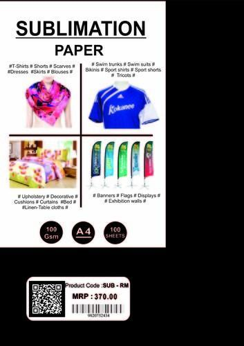 Ink-Well Sublimation Papers, GSM: Less than 80, For Printing
