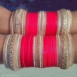 Shahi Bridal Chura Red & Gold