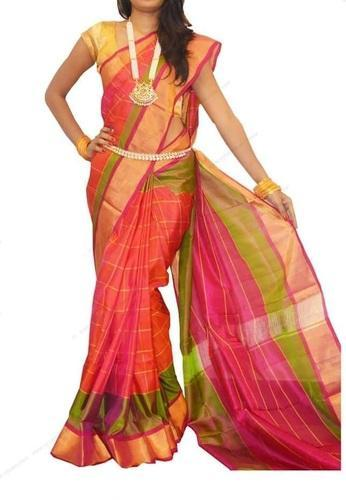 df23e51db93 Multi Colour Uppada Silk Saree