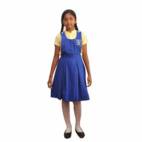 f6a202420b71 Cotton School Girls Uniform Set, Size: Small, Rs 400 /set | ID ...