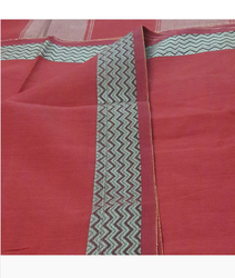 Red Party Wear Cotton Saree