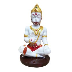 White Hanuman Statue