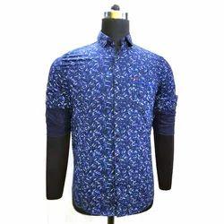 Mens Cotton Printed Designer Shirt, Size: M-2XL