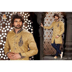 Embroidered Sherwani with Indowestern Bridges