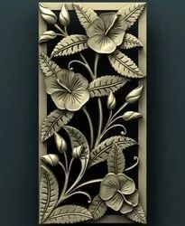 Drywall Clad MDF 3D Leaf Pattern Panel for Wall Decoration