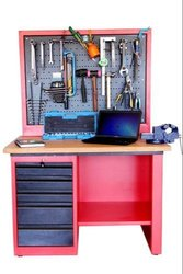 WS Work Station With Perforated Panel