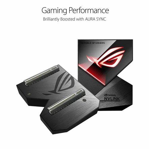Asus Rog Geforce RTX Nvlink Bridge With Aura Sync Rgb 3 Slot Graphic