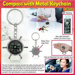 Compass With Metal keychain