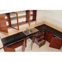 L Shape PVC Modular Kitchen