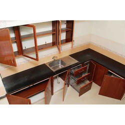 L Shape PVC Modular Kitchen