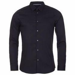 Cotton Plain Men Casual Shirt
