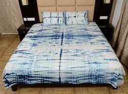 Tie Dye Shibori Printed Cotton Bed Sheet