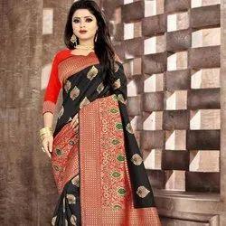 Banarasi Silk Saree Zari Work