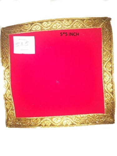RED Red Prayer Aasan, Size: 5*5 INCH