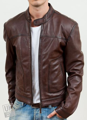 bef2cf1e47c2 Boys Brown Leather Jacket