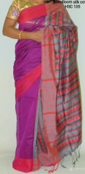 Runu's Boutique wooven Exclusive Handloom Silk Cotton Saree, Hand Made, With Blouse Piece