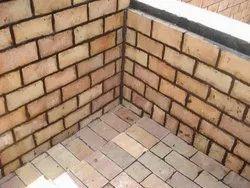 Rectangular Brown Acid Proof Bricks, For Floor, Side Walls, Size: 9x4.5x3 , 9x4.5x1.5