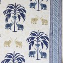Bedsheets for Double Bed Cotton Elephant Tree Print