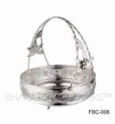 Pure Silver Flower Basket