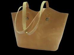 Tan Leather Tote Bag